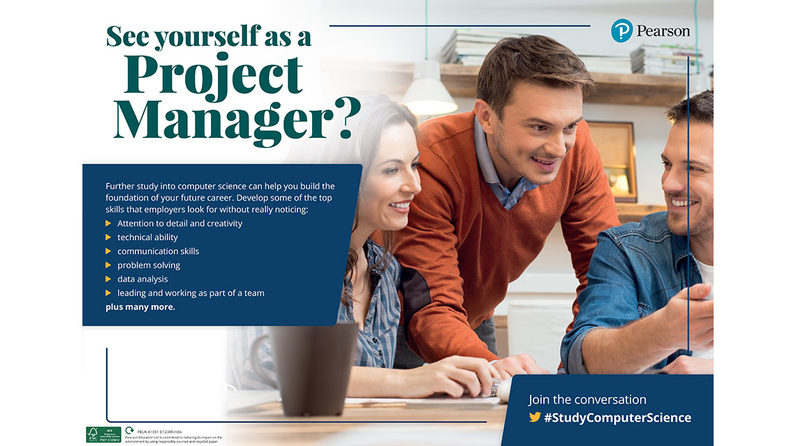Project Manager poster - male