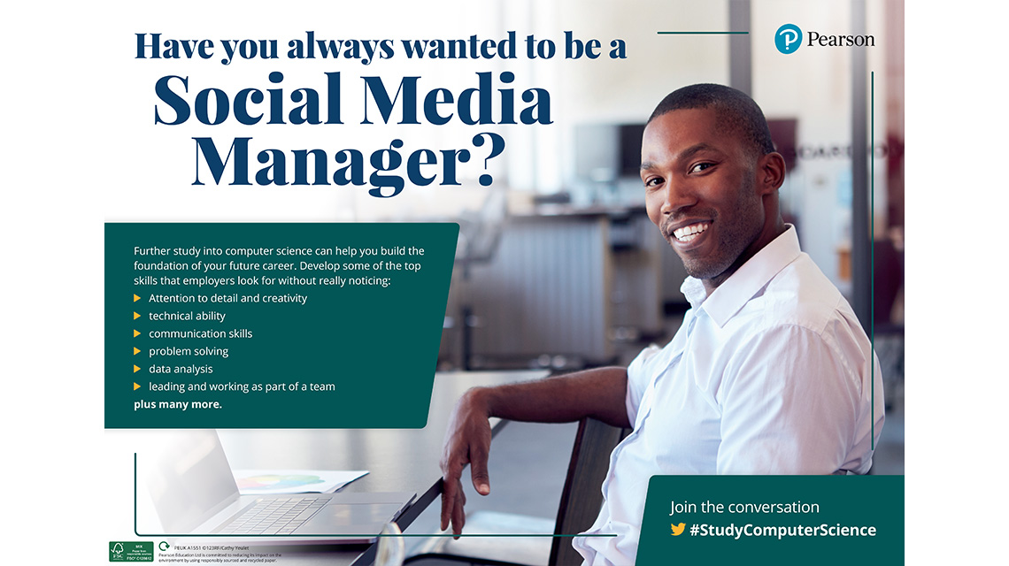 Social Media Manager poster - male