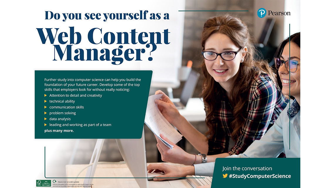 Web Content Manager poster - female
