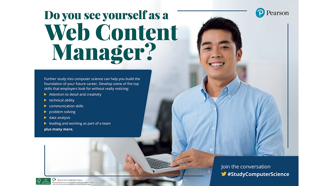 Web Content Manager poster - male