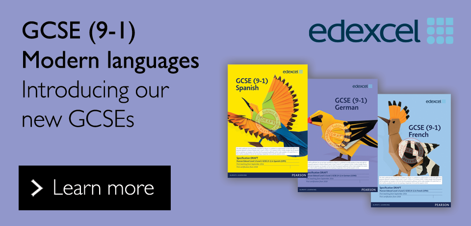 Link to our new Edexcel GCSE (9-1) modern languages qualifications