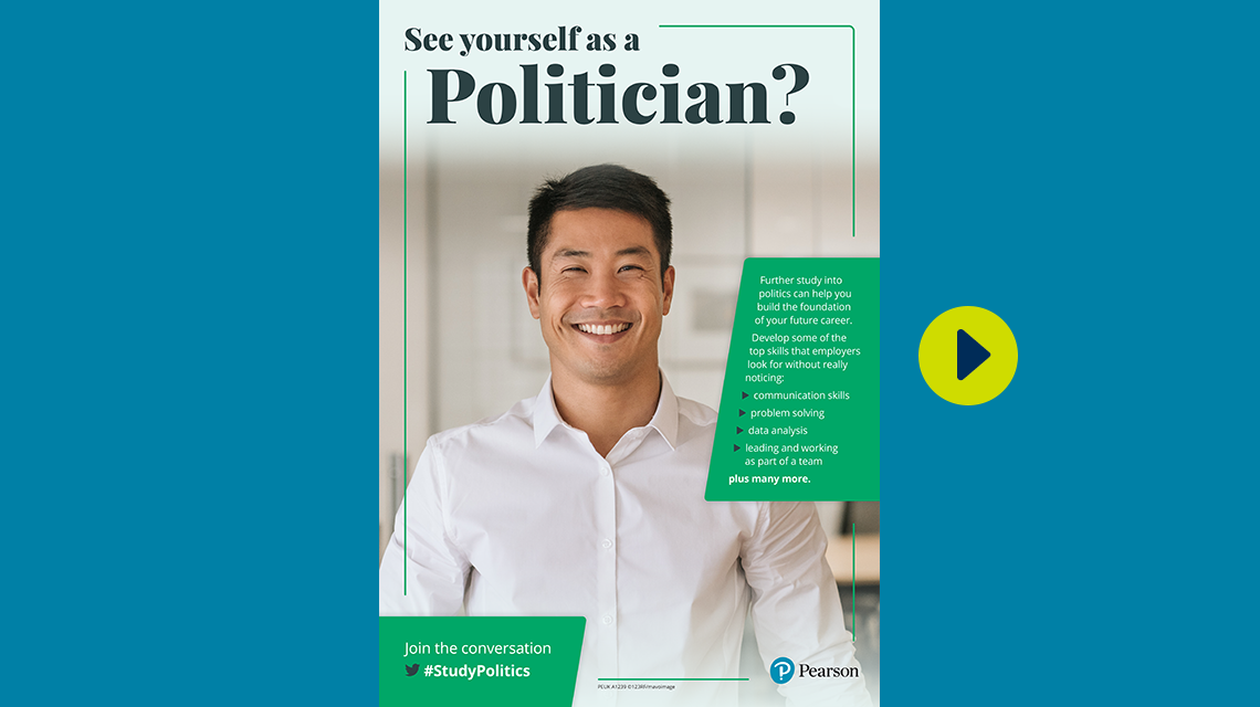 #StudyPolitics politician poster - male