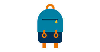 Icon of backpack