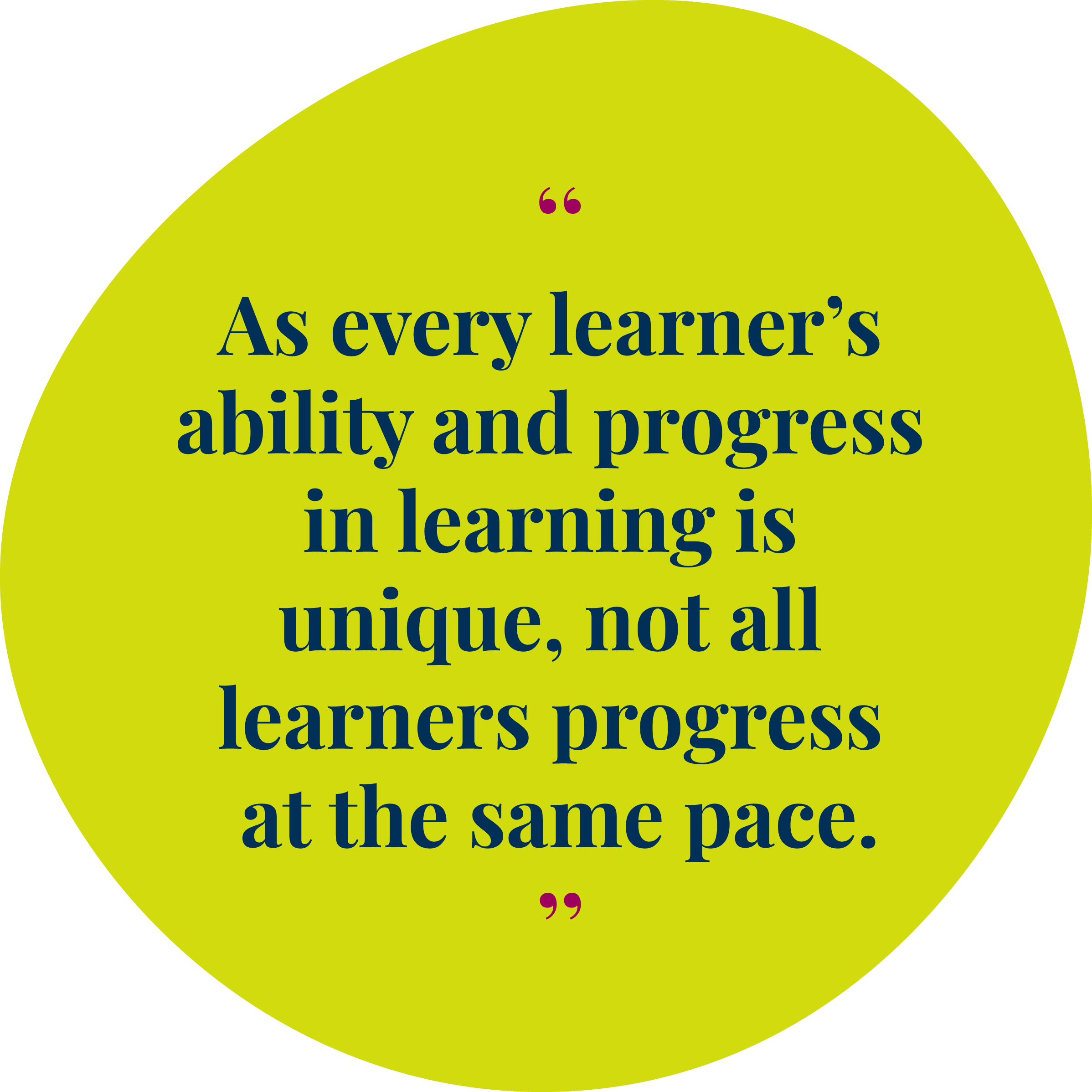 Image result for learners learn at their own pace quotes