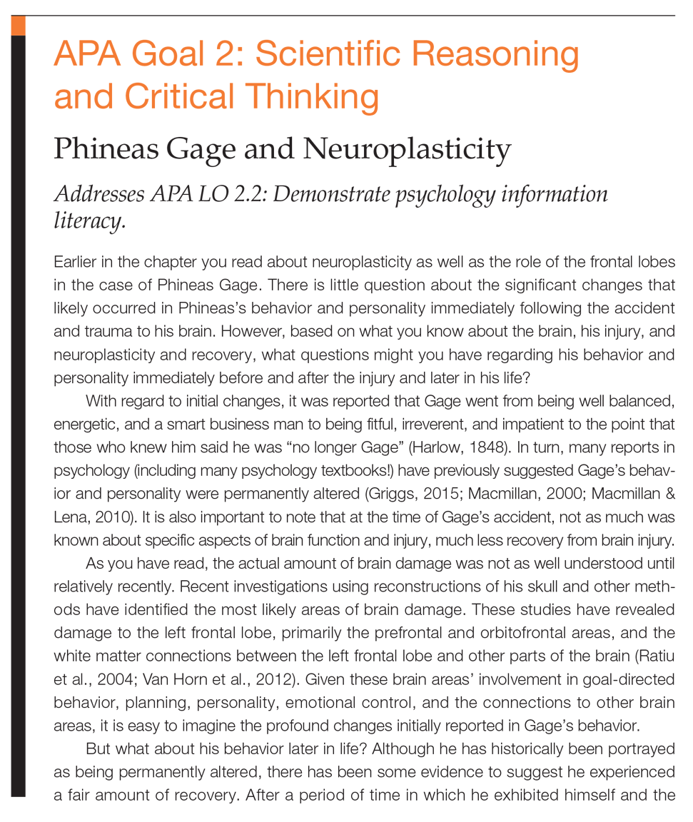 Ciccarelli white psychology 5th edition pearson each chapter now includes a special feature that reinforces apa goal 2 scientific inquiry and critical thinking students are introduced to a psychological fandeluxe Gallery