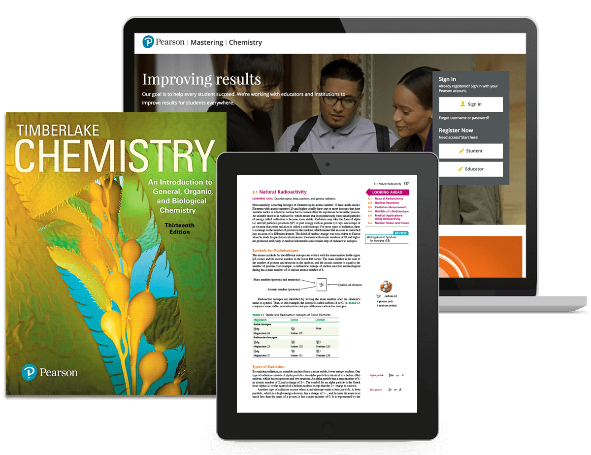 Continuous learning before, during, and after class with Mastering Chemistry