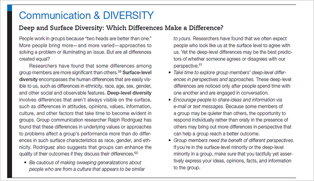 discuss why understanding 'surface level diversity' and Home free essays surface level diversity and deep level diversity we will write a custom essay sample on surface level diversity and deep level diversity specifically for you for only $1638 $139/page.