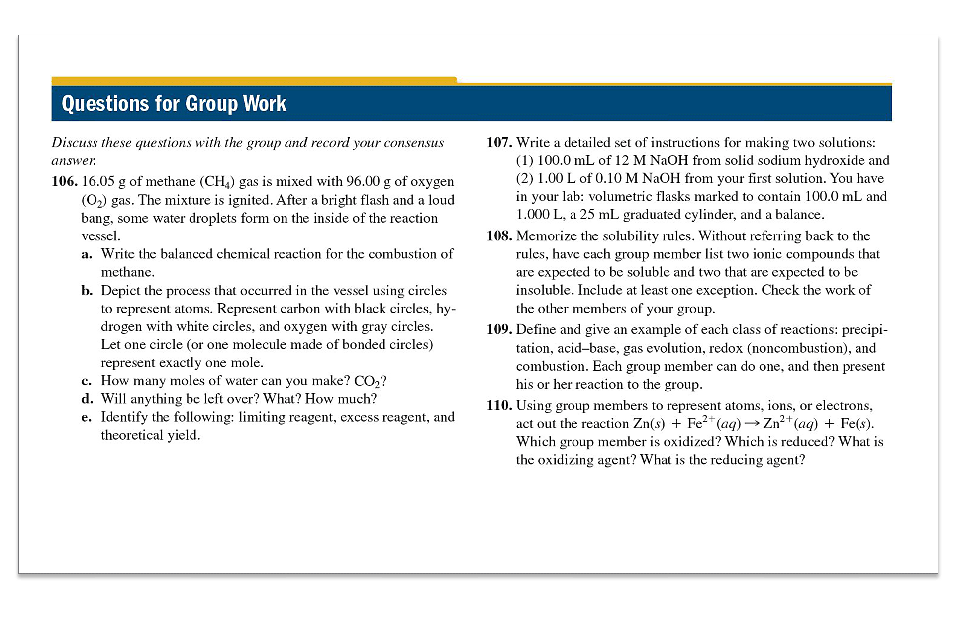 NEW | Group Work at the end of each chapter prompt students to work  together in small teams, in or out of class, to solve problems  collaboratively.