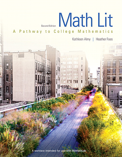 Math Lit: A Pathway to College Mathematics Book Cover