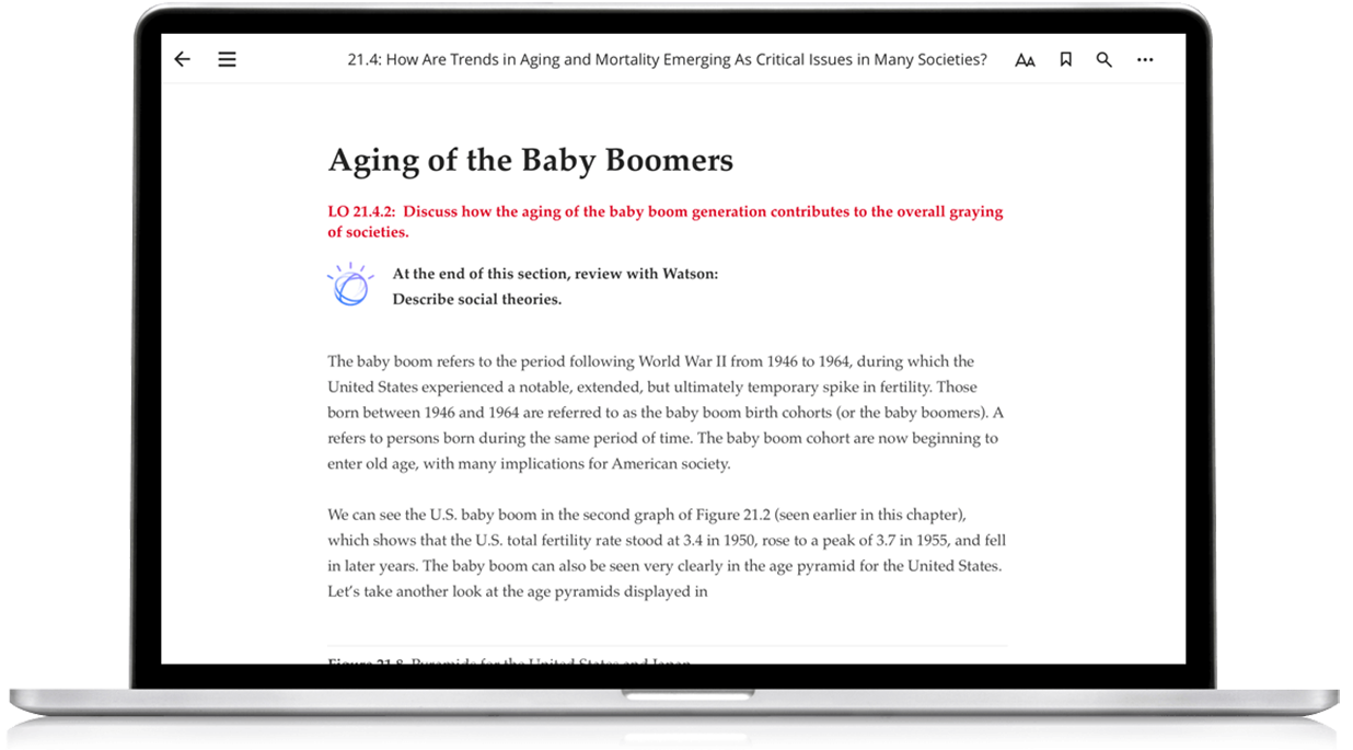 Aging of the Baby Boomers screen