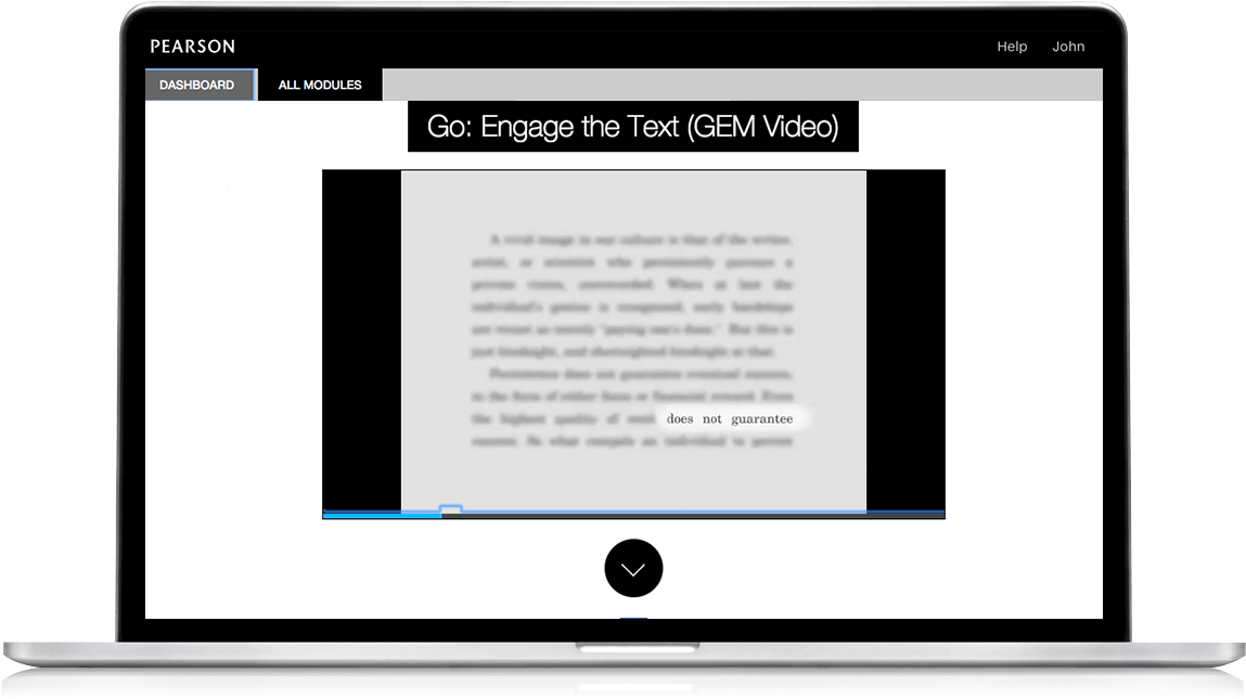 Practice active reading strategies with GEM™ videos.