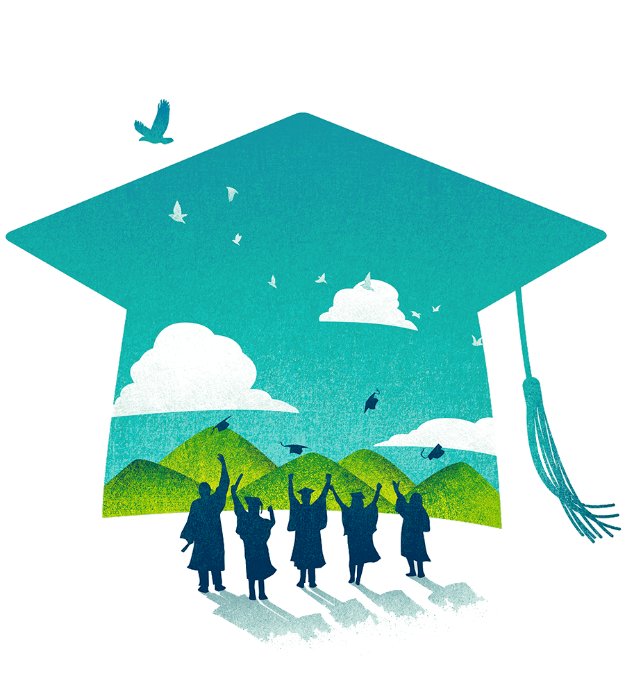 Image created by Tang Yau Hoong titled Graduation Celebration