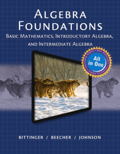 algebra-foundations-bittnger-cover